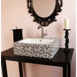 Black & White Chintz Painted Sink