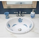 Blue Amaranth Painted Sink
