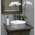 Big Squares Painted Vessel Sink
