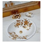 Gold Orchids Fluted Sink