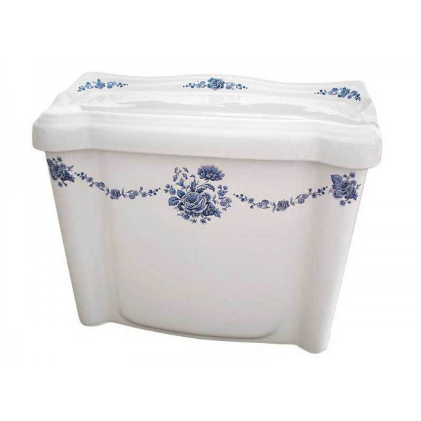 Blue Amaranth Medallion Toilet Tank