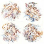 Cherubs with Ribbons & Garlands