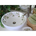 Daisy Painted Vessel Sink