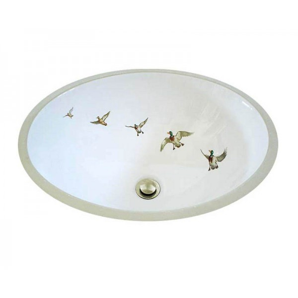 Ducks in Flight Hand Painted Sink