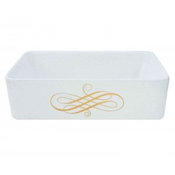 Elegant Swirl Rectangle Vessel Sale