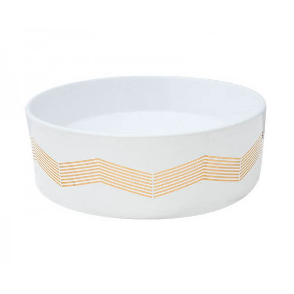 Chevron Stripe Vessel Sink