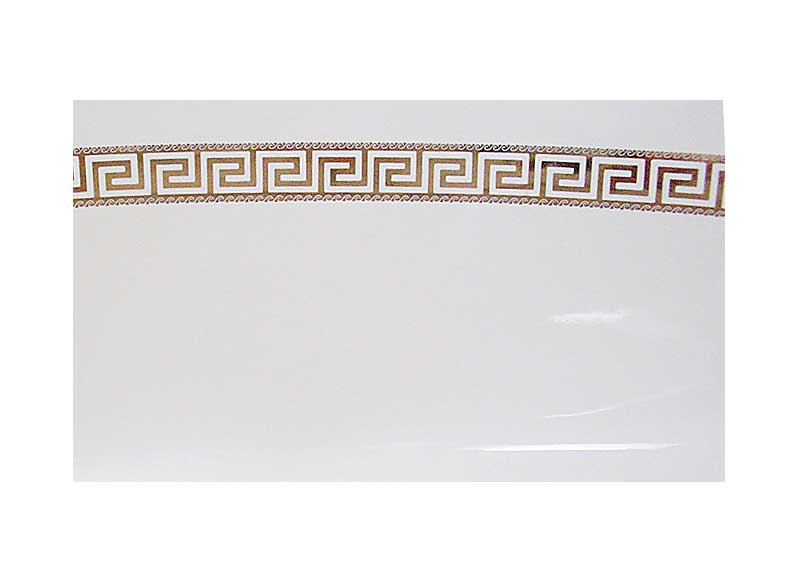 gold greek key design hand painted ceramic basin