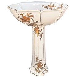 Gold Orchids Anatole Painted Pedestal
