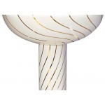 Gold Swirling Lines Painted Pedestal