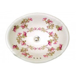 Heirloom Roses Fluted Drop-in Sink