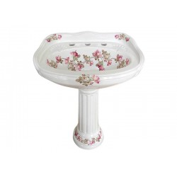 Heirloom Roses Pedestal Sink