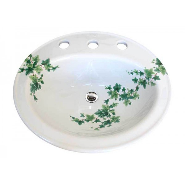 Ivy Drop-in Painted Sink