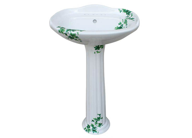 ivy hand painted pedestal lavatory