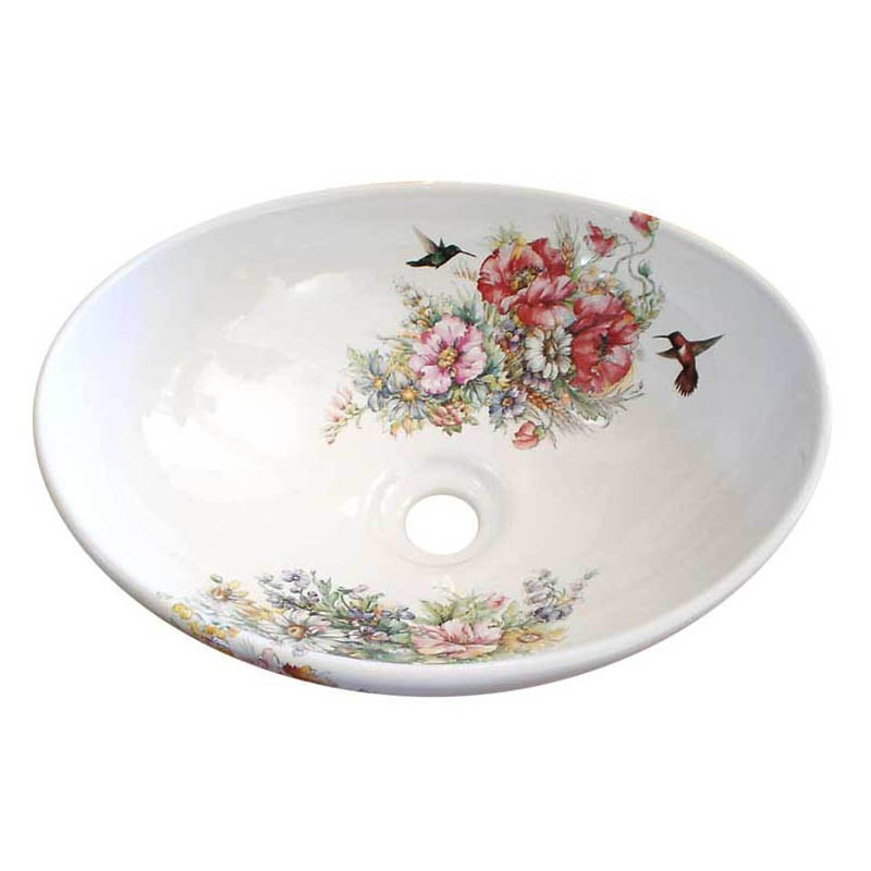 Flower Vessel Sink : Rococo Flowers Vessel Sink