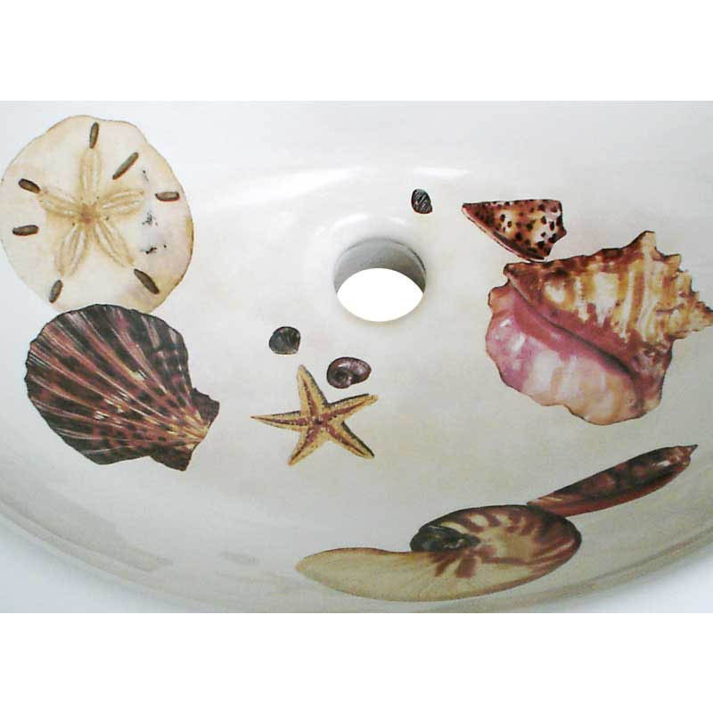 Seashell Pedestal Sink : Product Code: Sea Shells Drop-in
