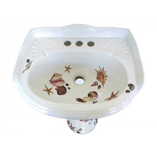 Sea Shells Pedestal Sink