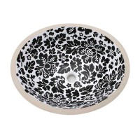 Hand Painted Foil Round Bowl Circular Vessel Bathroom Sink