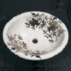 Platinum Orchids Drop-in Painted Sink Sale