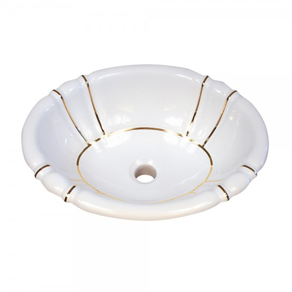 Gold Bands Fluted Drop-in Sink