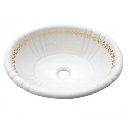 Fancy Gold Border Fluted Drop-in Sink
