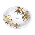 Gold Orchids Drop-in Painted Sink