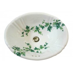 Ivy Fluted Painted Sink