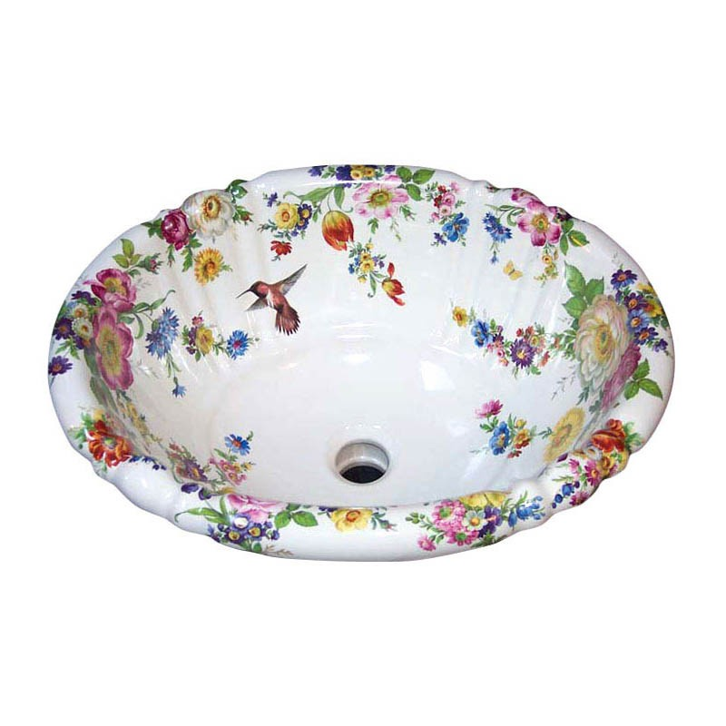 painted sinks in the bathroom scented garden and hummingbird painted sink 23929