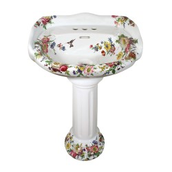 Scented Garden Painted Pedestal I