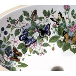 Butterflies, Fruit & Flowers Painted Sink