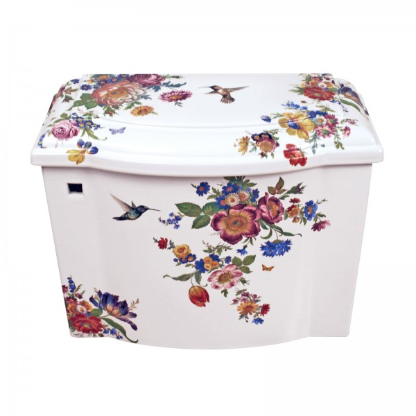 Scented Garden Painted Toilet Tank and Lid