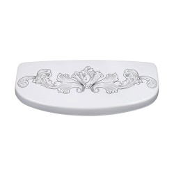 Engraved Acanthus Toilet Tank Lid