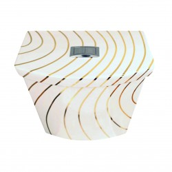Gold Swirling Lines Toilet Tank & Lid