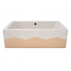 Chevron Vessel Sink
