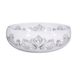 Engraved Acanthus Scroll Painted Sink