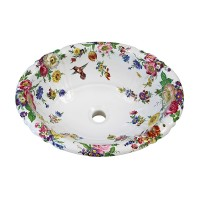 Scented Garden and Hummingbird Painted Sink