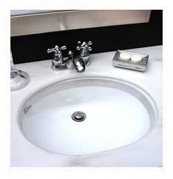 Chain Maille border platinum painted undermount sink in black and marble guest bath
