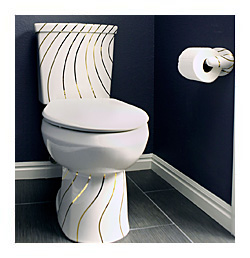 Gold Swirling Lines Toilet Blue Small Jpg