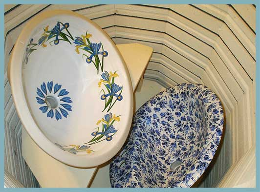 hand painted bathroom sinks